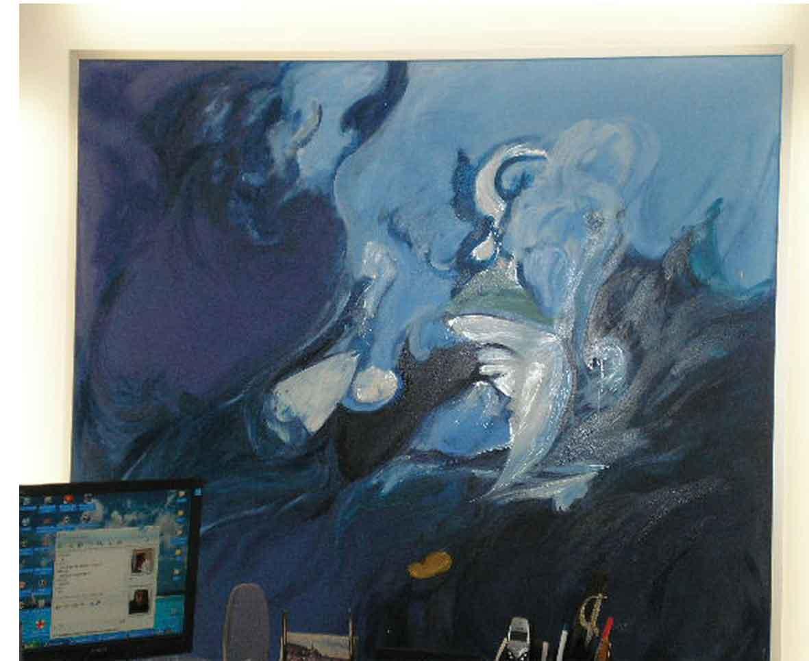 Peinture abstraite for Mettre en peinture un mur